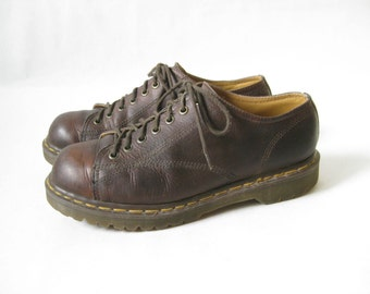 Vintage Doc Marten Made in England Brown Lace Up Chunky Oxfords. Size 8 UK. Size 11 US