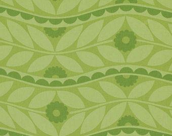Jane Sassaman Brocade Green fabric 1 yard