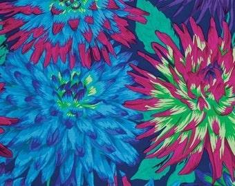 Kaffe Fassett Cactus Dahlia Blue Philip Jacobs Fabric 1 yard