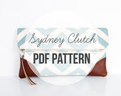 DIY Sewing Pattern & Tutorial INSTANT DOWNLOAD: Sydney Clutch