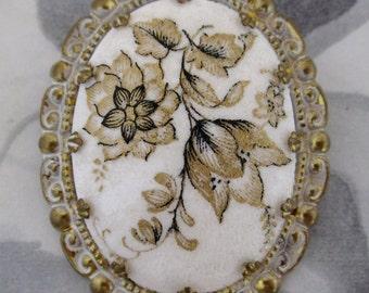 vintage floral sugar brooch - j5301