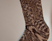 Handknitted Socks in Brown and Beige
