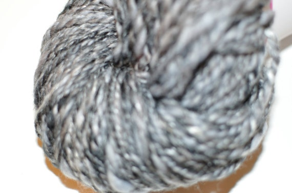 Merino/Silk Handspun Yarn in Shades of Grey and Black 100g/182yds