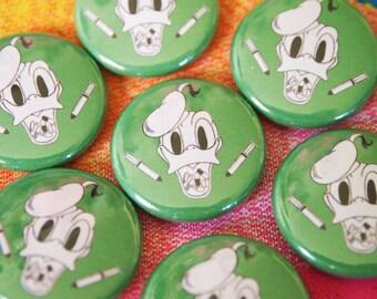 DRUGTALES // Donald Duck Button Disney Acid Trip...Pills and THRILLS Pin