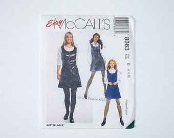 Sewing Retro Jumpers, Womens McCalls Sewing Pattern 8363, Sizes 8, 10 and 12, Teen Dress Pattern Uncut