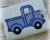 Little Old Truck Embroidery Applique Design