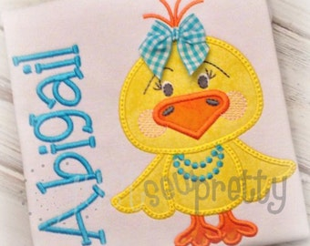 Little Chick Girl  Embroidery Applique Design