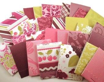 30  Matchbook Notepads  Matchbook Favors in  Cherry Limeade