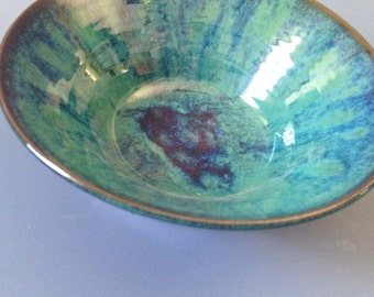 Zac's Green Small stoneware bowl