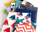 Assorted Organic Cotton Napkins - Choose Your Colors/Prints, Eco Friendly Cloth Napkins, Reusable, Set of Eight