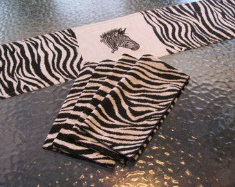 Zebra Dinner Napkins