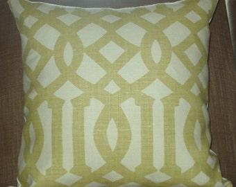 Kelly Wearstler Imperial Trellis in Citrine 18x18 pillow cover