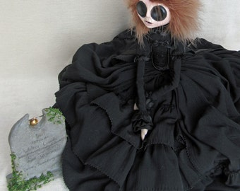 Reserved For Sari - Amanda Coombe - Young Widow Gothic Art Doll ooak