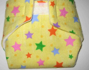 Baby Doll Diaper/Wipe- Stars- Fits Bitty Baby, Baby Alive,Cabbage Patch Dolls and More
