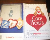 Vintage American Greetings Counted Cross Stitch Leaflet Care Bears Paragon 5100 Cross Stich Pattern