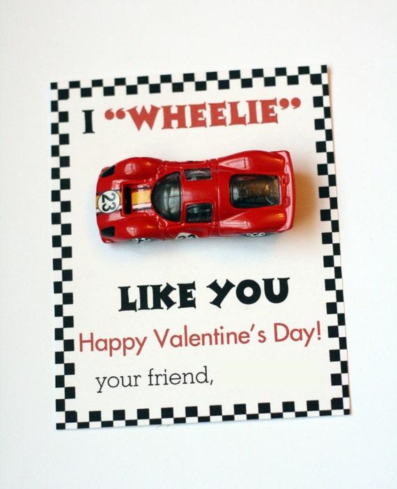 Toll Instant Download Boy Car Valentineu0027s Card I Wheelie Like