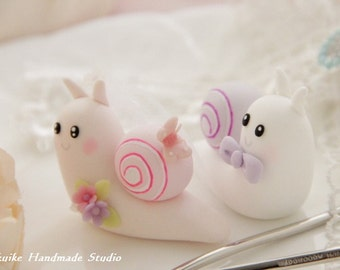 snail wedding cake topper---k767