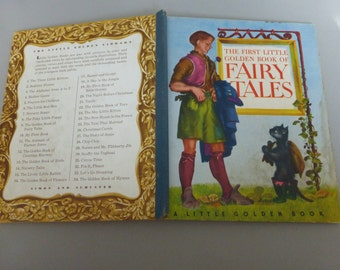 Antique First Little Golden Book of Fairy Tales