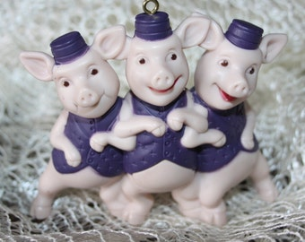 Three Little Pigs Recycled Christmas Ornament A Blast From the Past