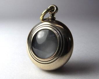 Lunar locket steampunk moon locket brass