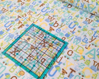 Snips & Snails Alphabet C3542 Blue by Doodlebug Design Inc. for Riley Blake Fabrics on sale