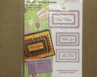 Just Rite Stamps. Victorian Nested Frames & Occasions
