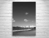 San Francisco Print, Northern California Wall Art, Golden Gate Bridge, Black and White, Vertical Print, Fine Art Photography, Vertical Art