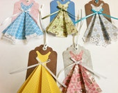Dress Gift Tags Set of 5