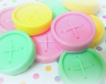 Cute as a Button Soap Set - Clean Cotton Scented - Baby Shower Favor - Gift for Crafter