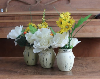 Rustic khaki ombre painted jars,decorated glass jars,vases,home decor,table centre piece,nursery decor, wedding center piece,candle holders
