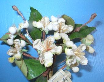 Vintage Millinery Velvet Flowers Italy