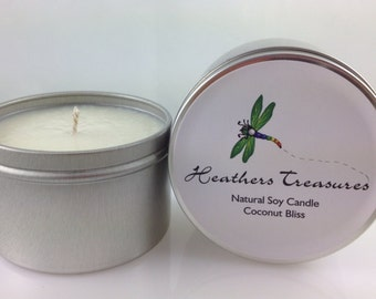 All Natural Eco-Friendly Soy Candle Coconut Bliss