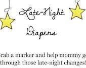 Late Night Diaper Station: Digital File