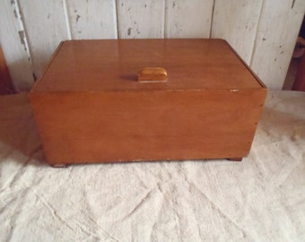 Modern Vintage Solid Maple Wood Chest