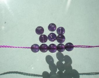 Natural A Grade Amethyst Beads - 4mm - 8