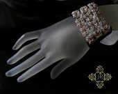 Midnight Glitz Celtic Lace glamour leather bracelet
