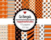 Digital Scrapbook GoBengals-INSTANT DOWNLOAD