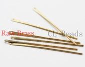 20pcs Raw Brass Pin - Bar 1x45mm (1753C-U-65)
