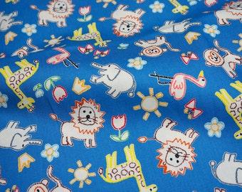 Animal print japanese fabric (n341)