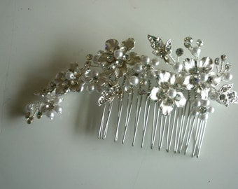 CRYSTAL HAIR Comb, one of a kind all handmade /  hc - 2 /  SALE