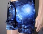Boys blue Galaxy Swim Trunks Shorts