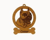 American Pit Bull Ornament 081198 Personalized With Your Dog's Name
