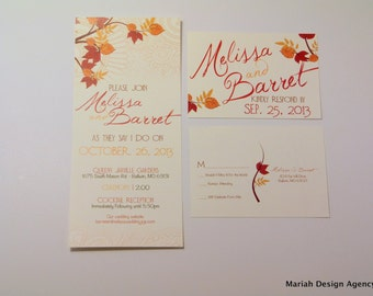 Fall Wedding Invitation Set