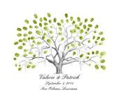Savannah Live Oak Thumbprint Tree Guestbook Alternative