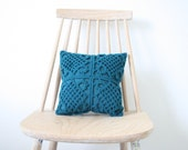 Four petrol crochet pillowcase 30 x 30 cm for Jude