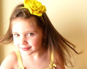 Wool felted flower headband - Women & Girls -  Felt Soft Fashion Fascinator