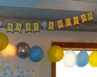 Anniv Sale • Banner • It's a Boy Banner • It's a Girl Banner • Baby Shower • Banner Kit • Bakers Twine • Seam Binding • Banner Making by AR