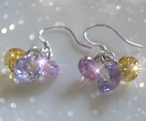 JERSEY SUNSET   Stunning Sparkly CZ Earrings