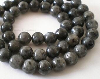 8mm Natural Round Norwegian Labradorite gemstone bead Full Strand
