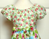 Girls Peasant Dress - Abigail Dress in Sugar Hill - available sizes 1, 2, 3, 4, 5